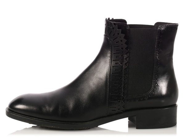 Tod Black Chelsea Ankle Boots