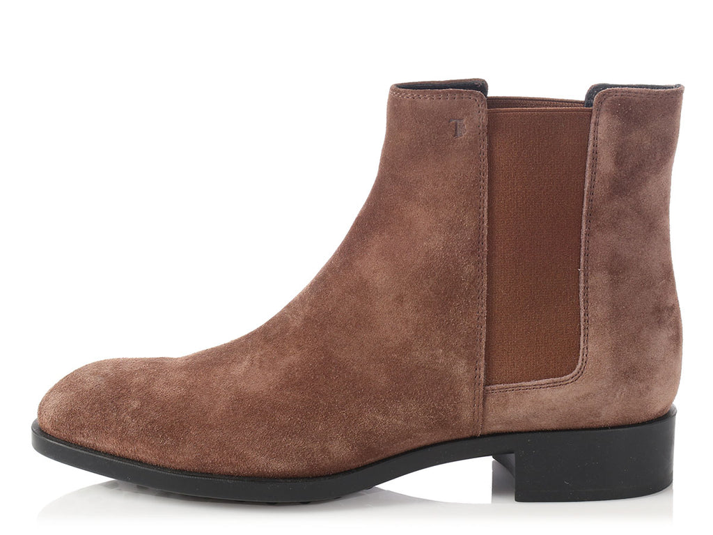 Tod's Clay Suede Ankle Boots