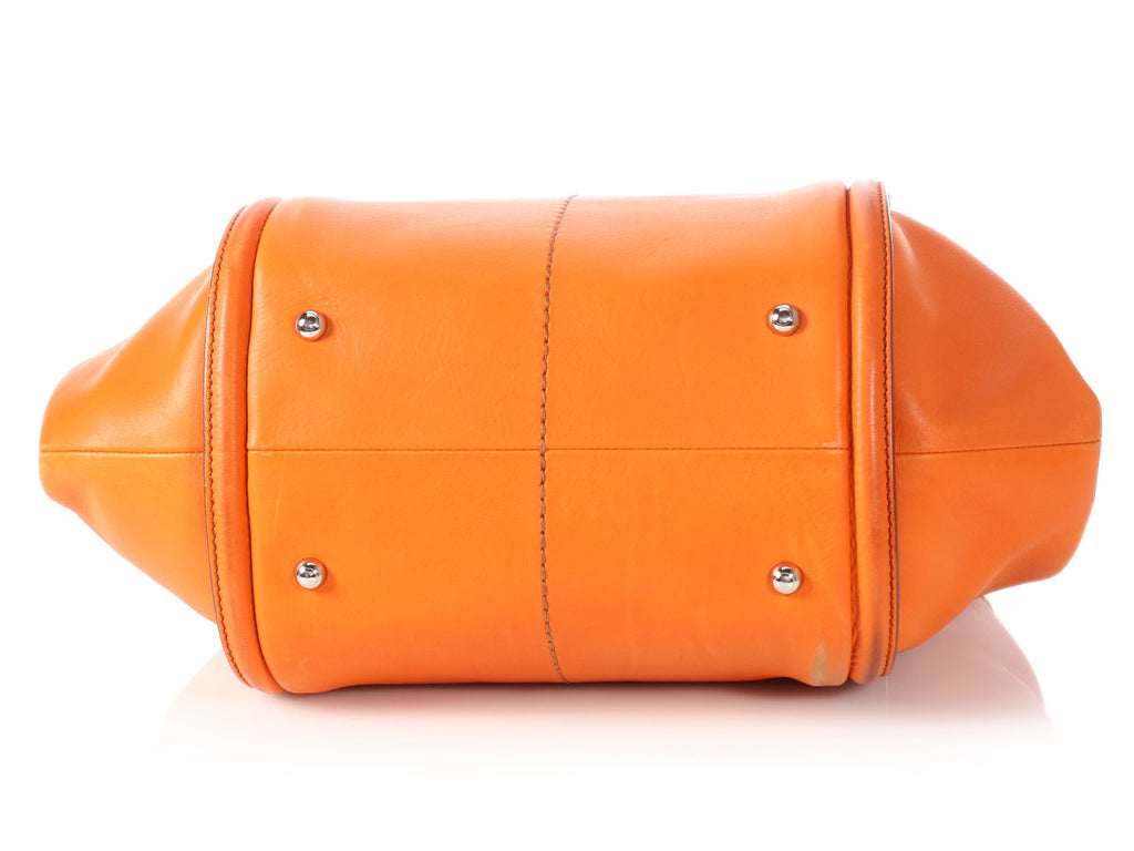 Tod's Orange Shade Shopping Media Tote