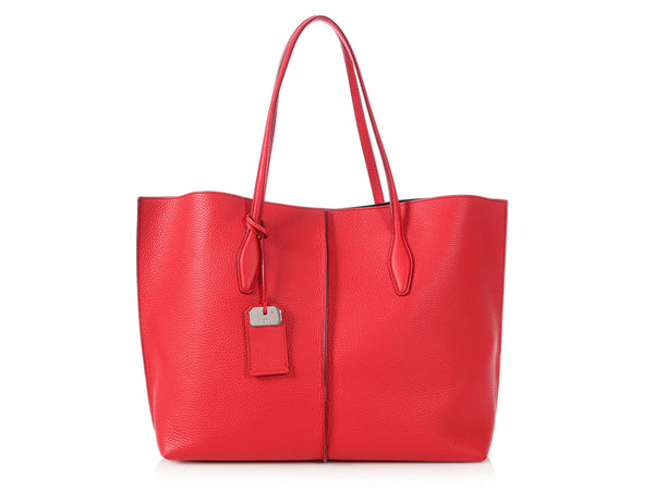 Tod's Large Red Joy Tote