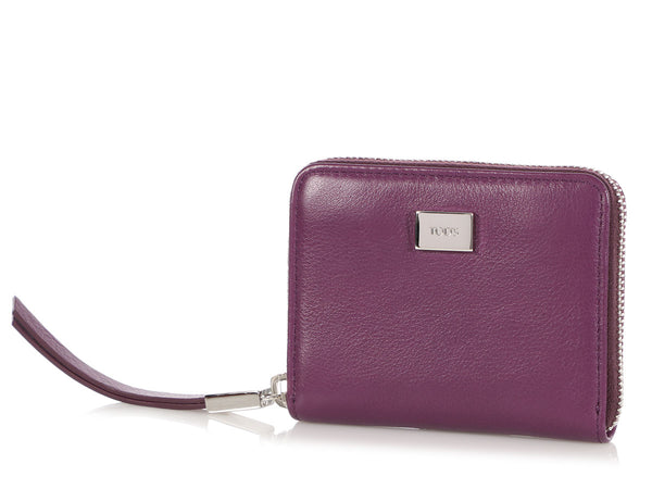 Tod's Purple Zip Wallet