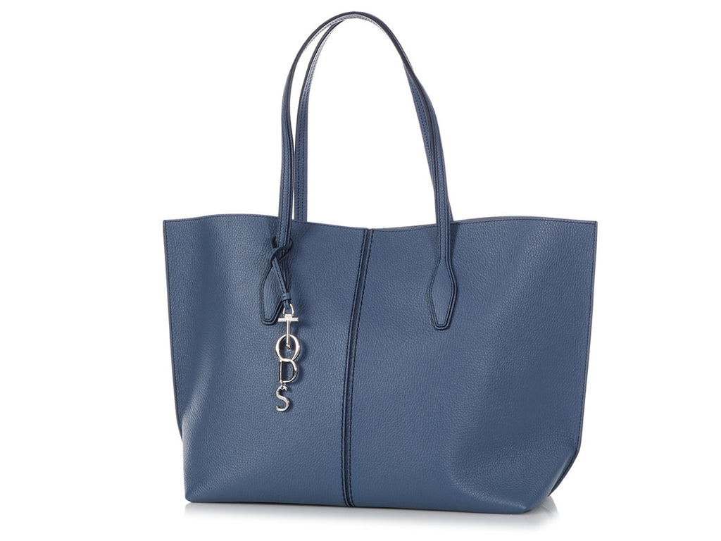 Tod's Large Blue Joy Hammered Tote