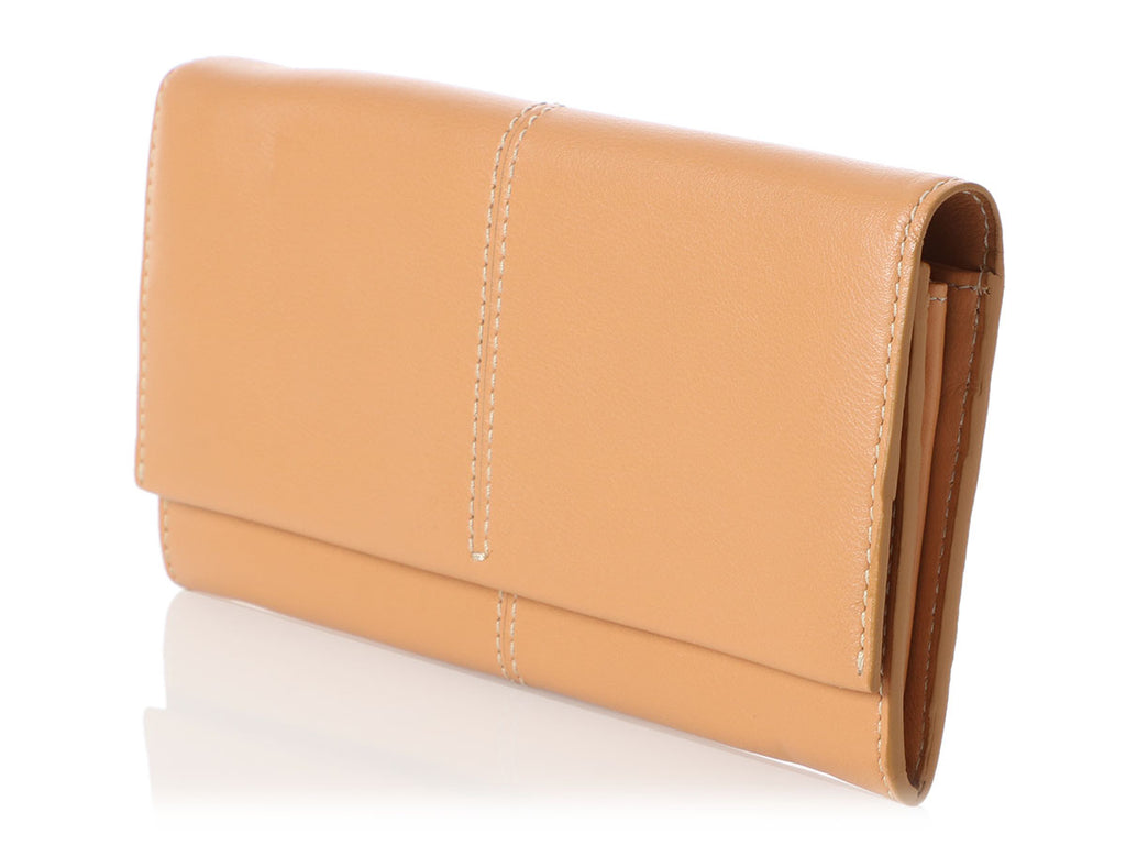 Tod's Long Tan Leather Wallet