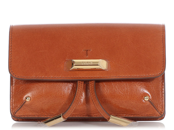 Tod's Mini Tan Antiqued Leather Crossbody/Belt Bag