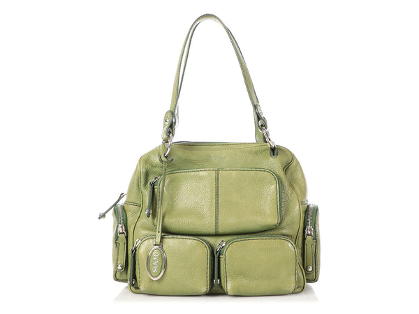 Tod's Green Multi-Pocket Bag