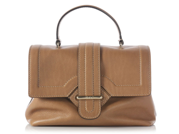 Tod's Light Brown Passante Patta Media Bag