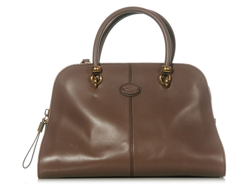 Tod's Taupe Medium Sella Bag