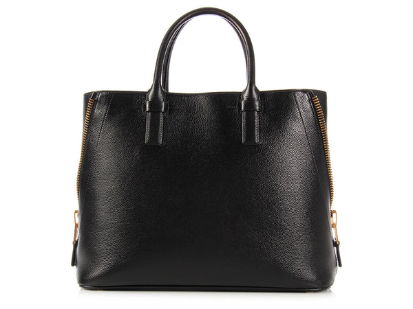 Tom Ford Black Side Zip Jennifer Tote