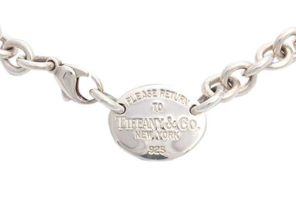 Tiffany & Co. Sterling Oval Tag Necklace
