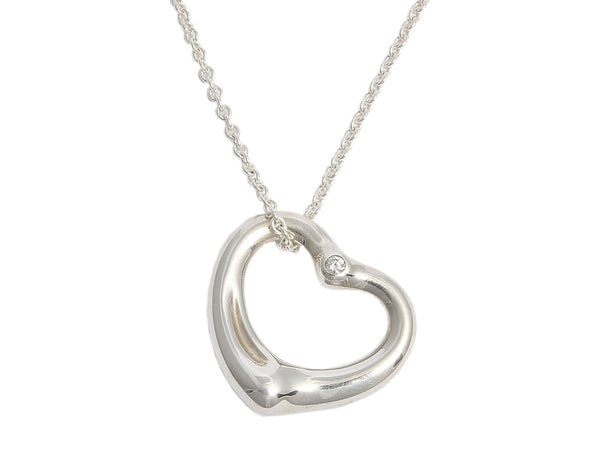 Tiffany & Co. Diamond Open Heart Necklace