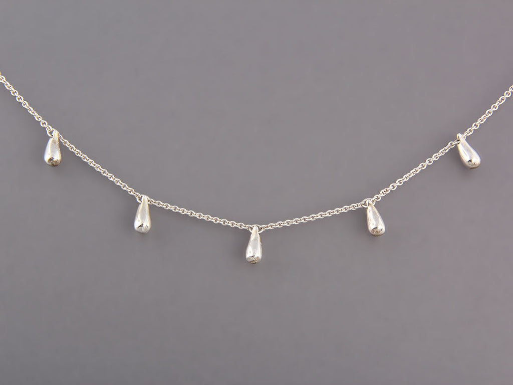 Tiffany & Co. Sterling Tear Drop Necklace