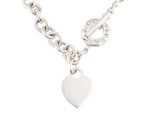Tiffany & Co. Sterling Heart Toggle Necklace
