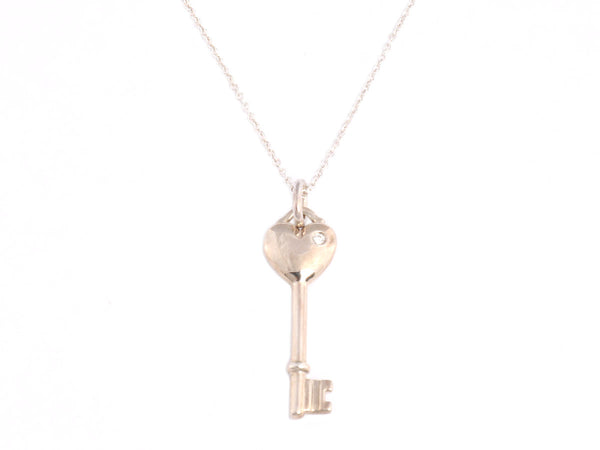 Tiffany & Co. Sterling Heart Key Necklace