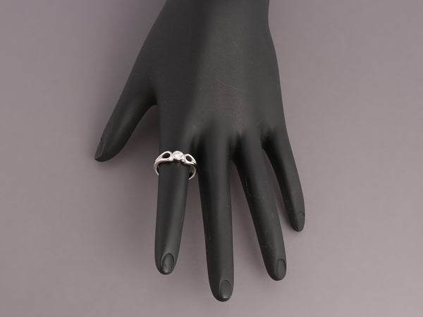 Tiffany & Co. Platinum Teardrop Diamond Ring