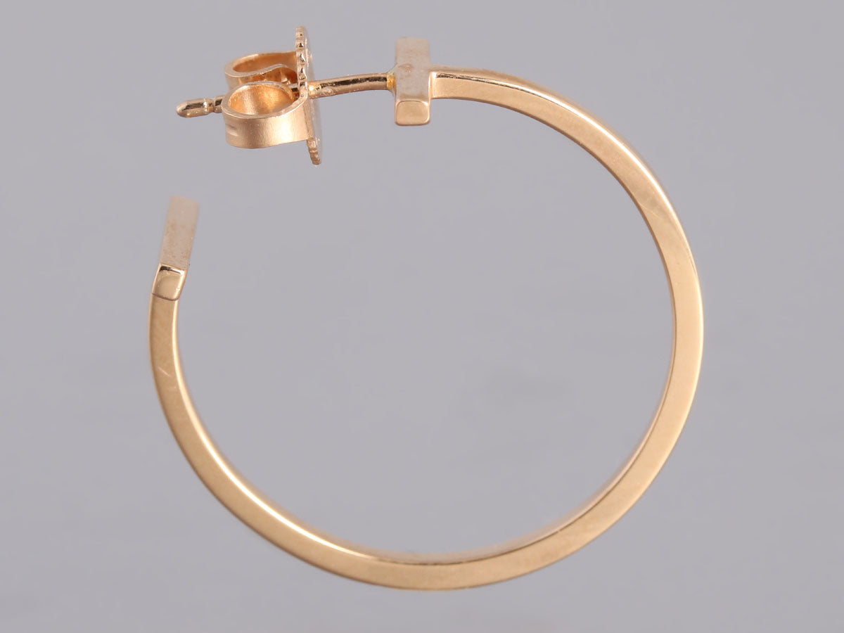 1bc2b4bfc Tiffany & Co. Tiffany T Rose Gold Wire Hoop Earrings - Ann's ...