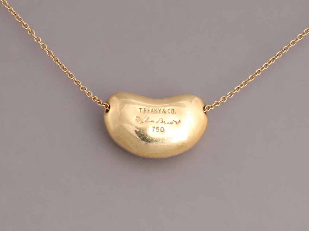 Tiffany & Co. 18K Yellow Gold Elsa Peretti Bean Necklace