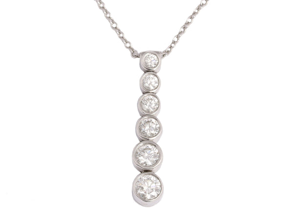 Tiffany & Co. Platinum and Diamond Graduated Jazz Necklace