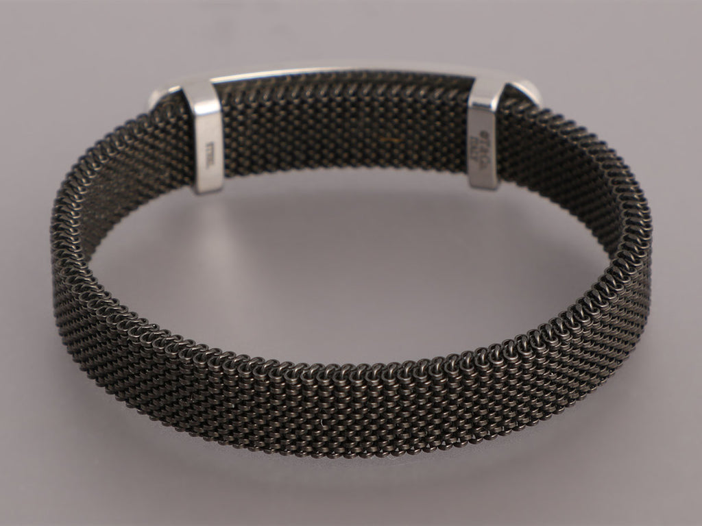 Tiffany & Co. Stainless Steel 1837 Stretch Mesh ID Bracelet