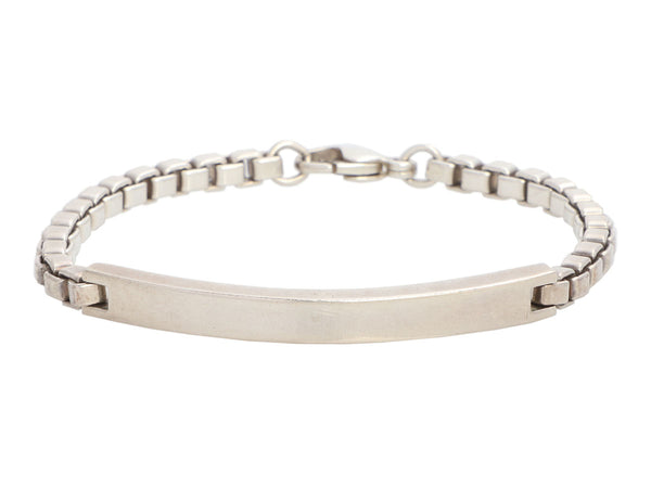 Tiffany & Co. Sterling Silver Box Chain ID Bracelet