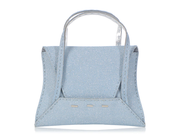 VBH Blue Glitter Manilla Handle Bag