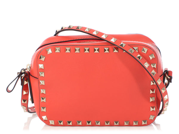 Valentino Small Red Rockstud Crossbody Bag