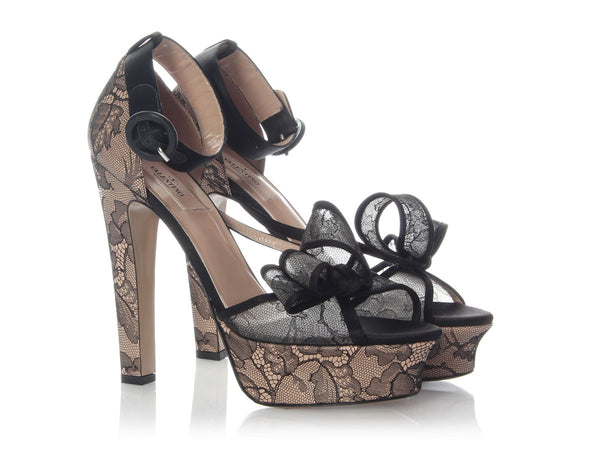 Valentino Lace Bow Platforms