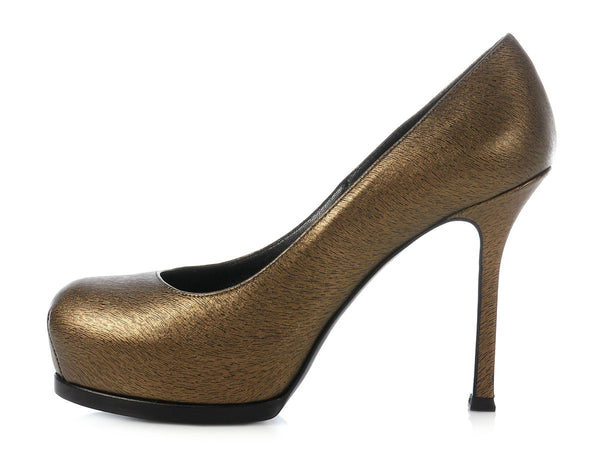 YSL Bronze Tribtoo Pumps