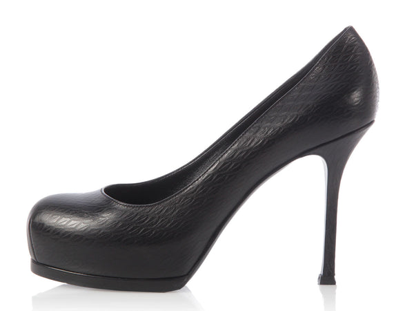 YSL Black Tribtoo Pumps