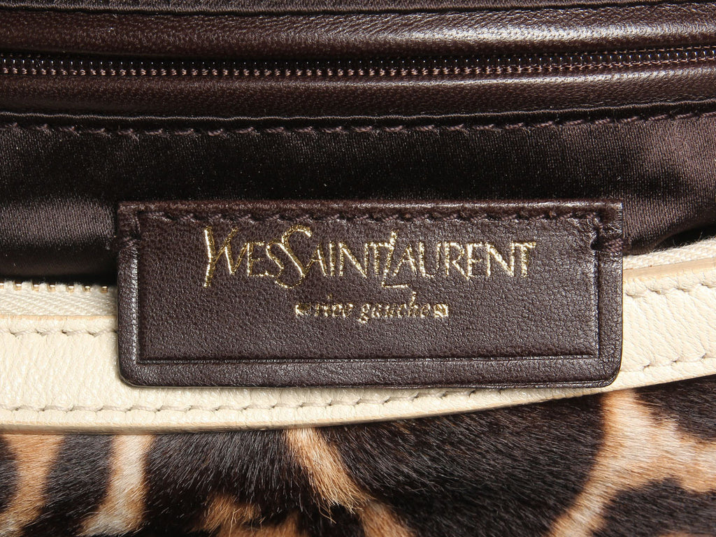 YSL Leopard Print Pony Hair Hobo