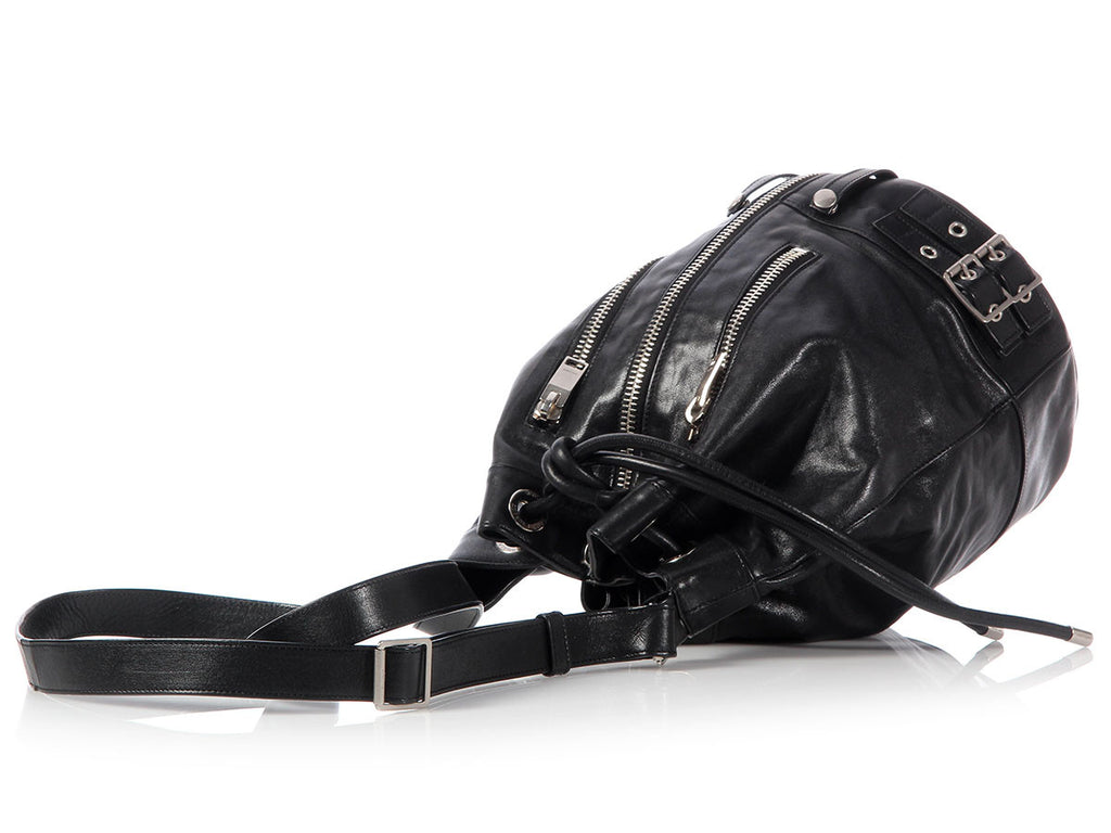 Saint Laurent Black Rider Bucket Bag