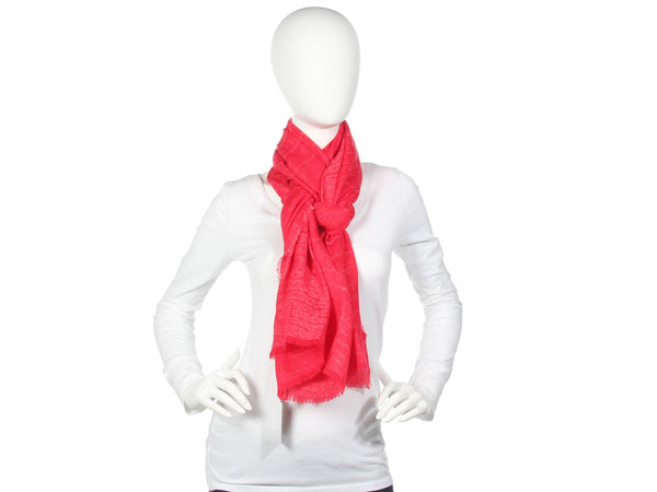 YSL Red Crocodile Scarf