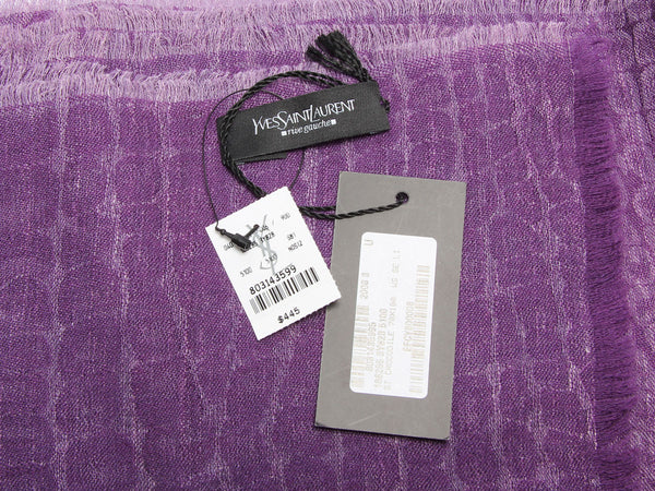 YSL Purple Crocodile Scarf
