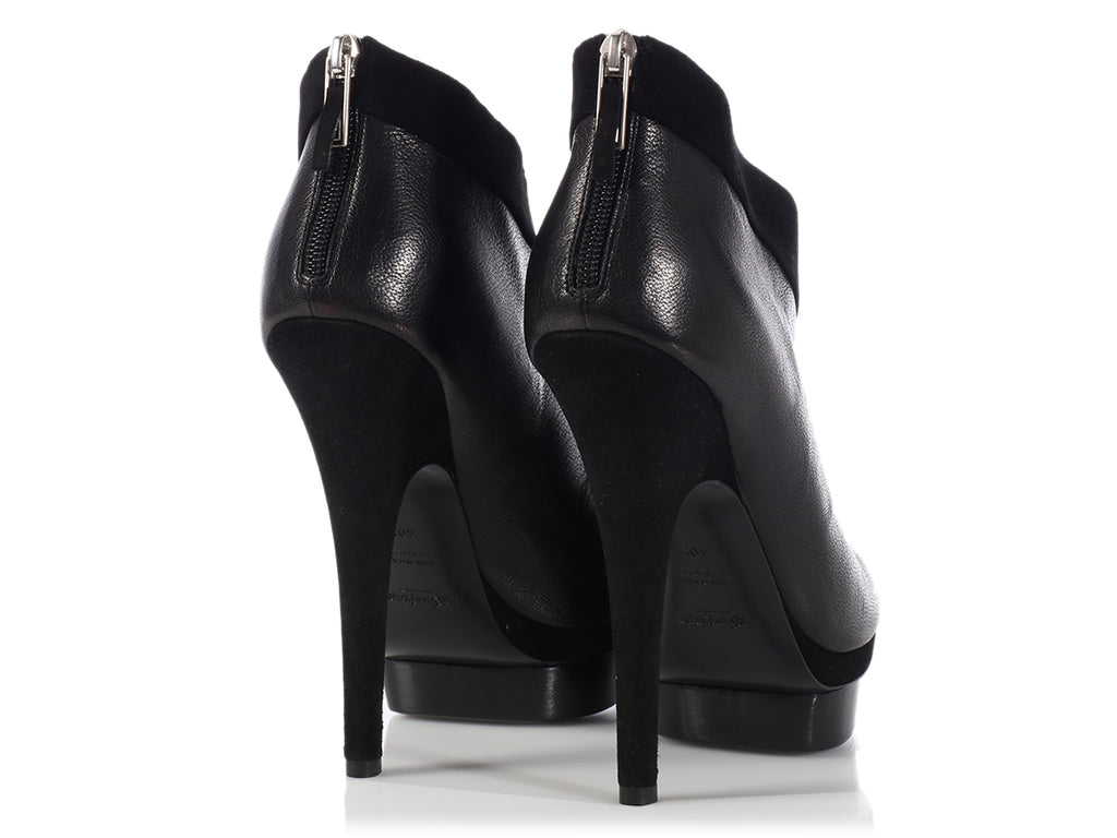YSL Black Easy Platform Booties