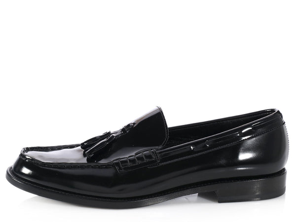 Saint Laurent Black Tasseled Loafers