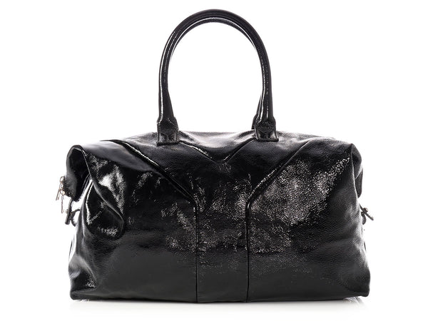 YSL Black Patent Easy Bag