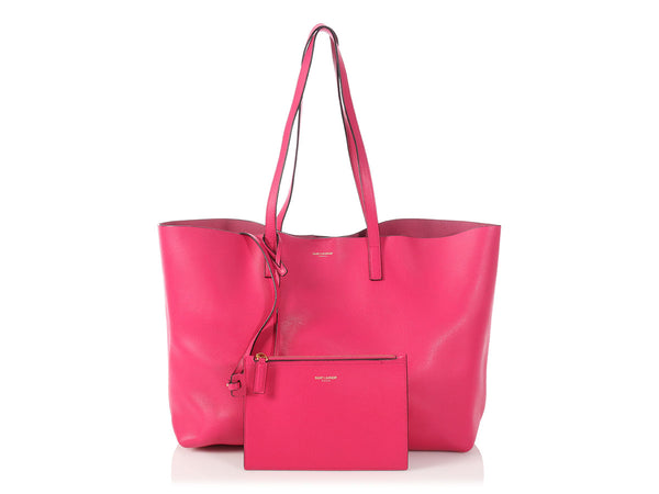 Saint Laurent Bright Fuchsia Leather Tote