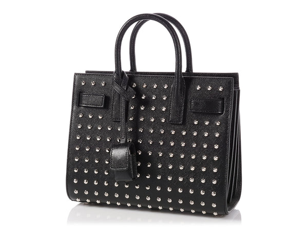 Saint Laurent Black Nano Studded Sac de Jour