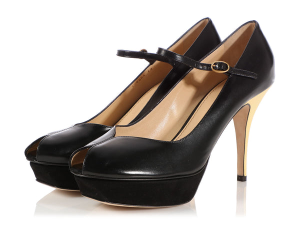 YSL Black Tribute PL75 Pumps