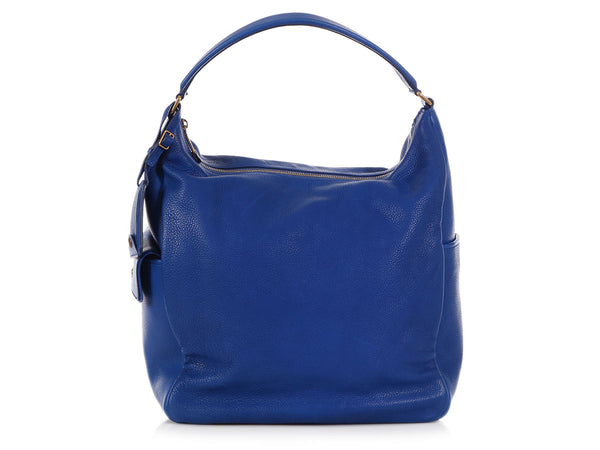 YSL Blue Multi Hobo