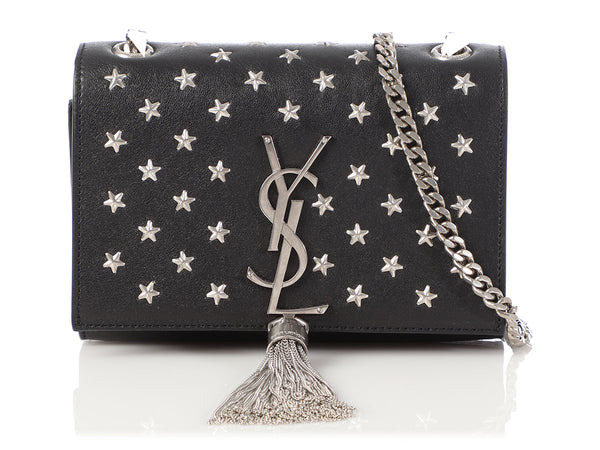 Saint Laurent Black Star Studded Kate Tassel Bag