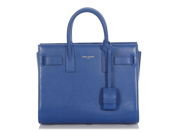 Saint Laurent Nano Royal Blue Sac de Jour