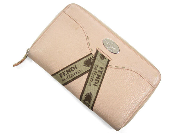Fendi Pink Selleria Zip-Around Wallet