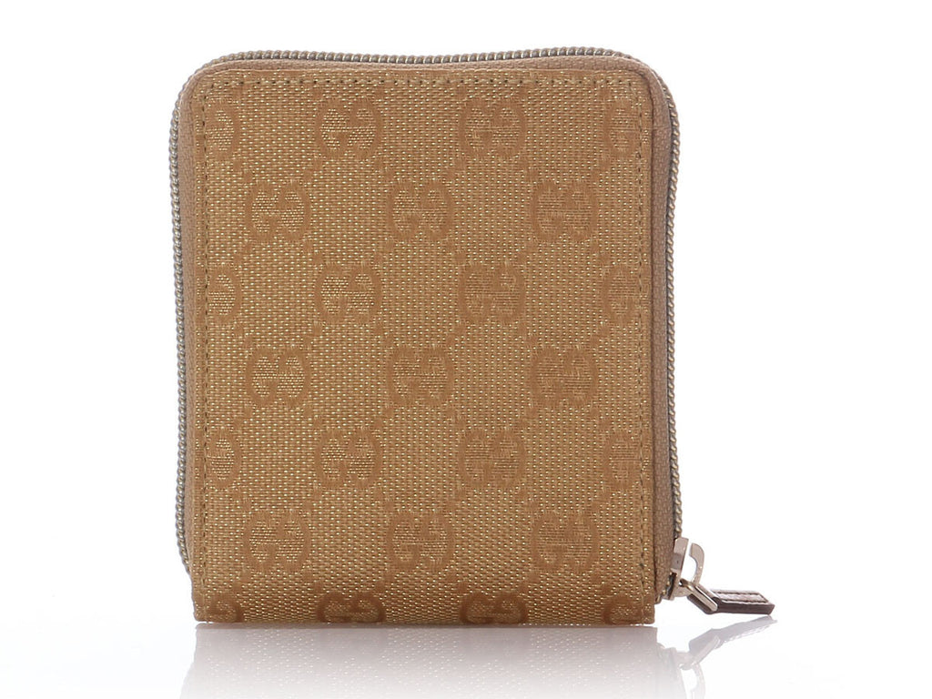 Gucci Gold Metallic Logo Medium Wallet