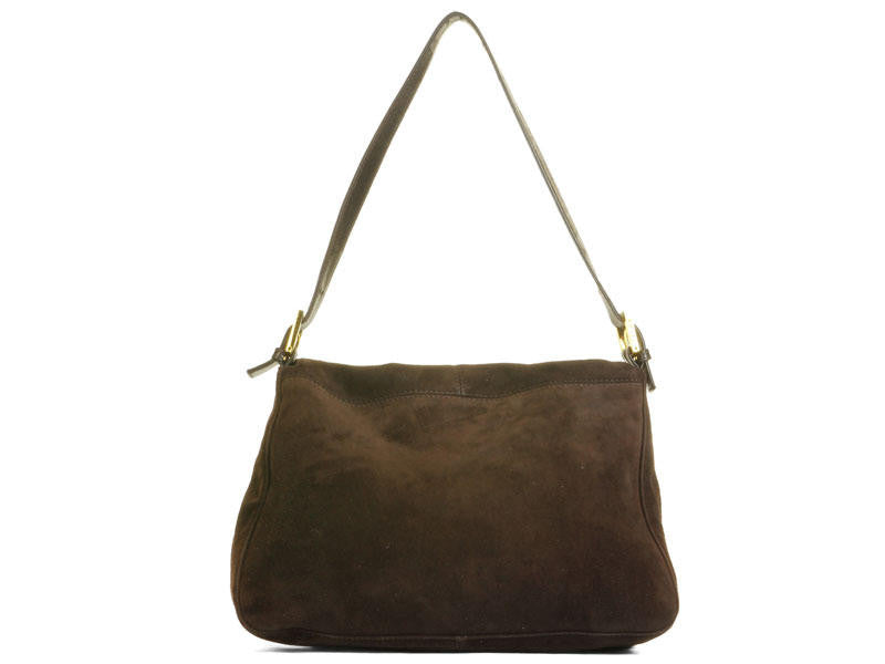 Fendi Brown Suede Mama Baguette