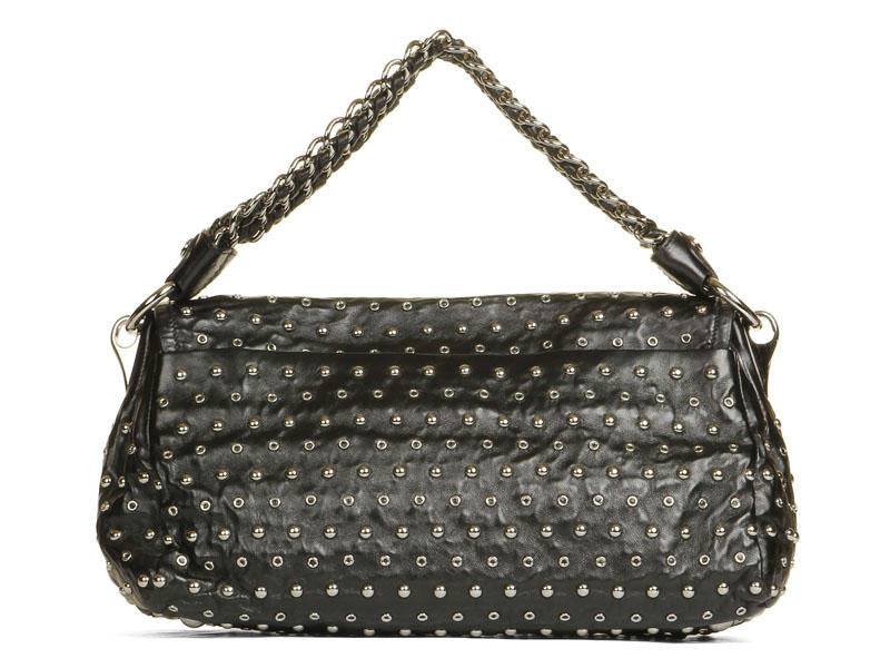 Prada Black Studded Leather Bag