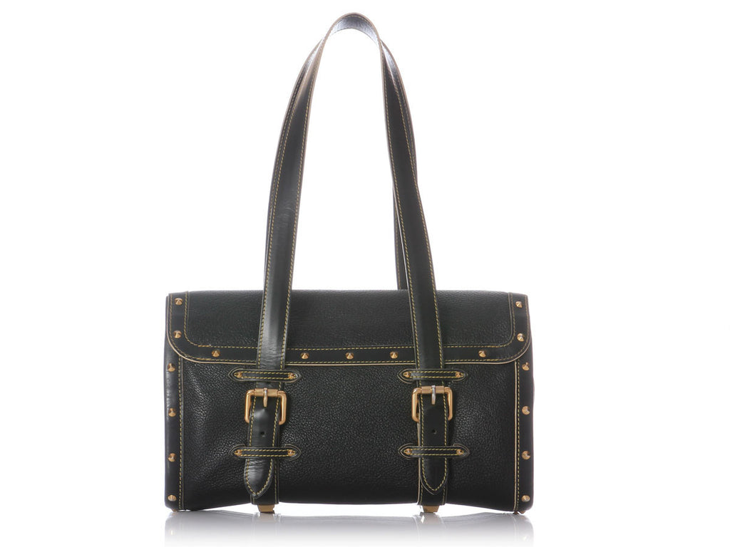 Louis Vuitton Black Suhali L'Epanoui GM