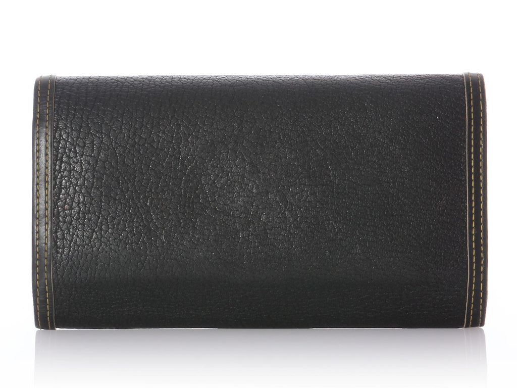 Louis Vuitton Black Suhali Wallet
