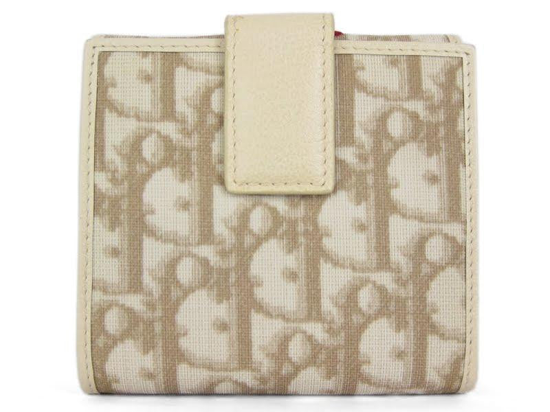 Christian Dior Embroidered Tan Logo Wallet