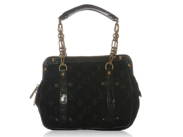 Louis Vuitton Black Velour Gracie GM