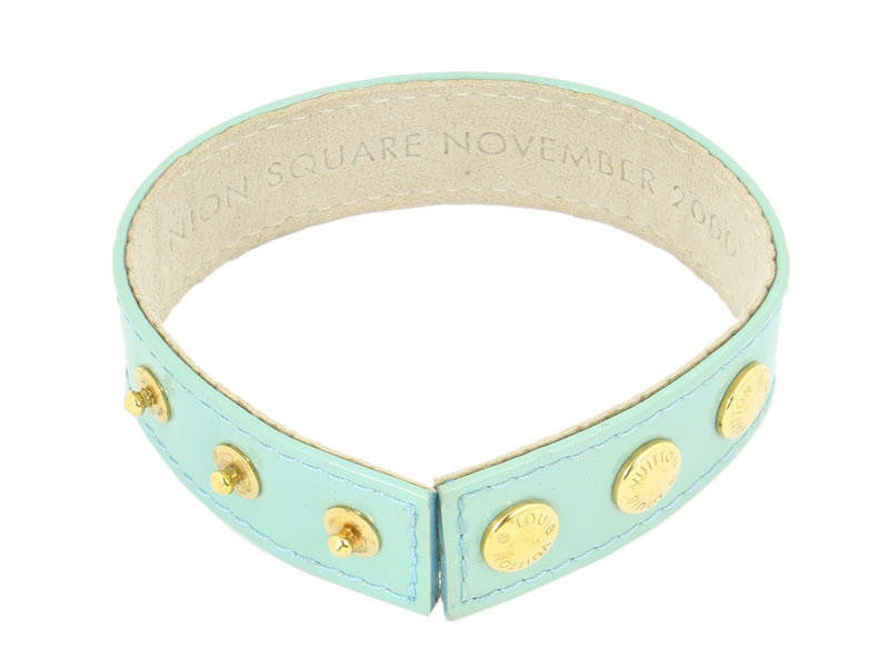 Louis Vuitton Peppermint Vernis Snap Bracelet